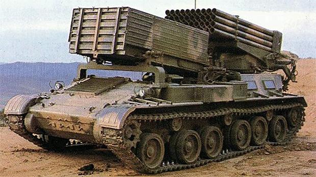 日本周辺国の軍事兵器: 89式122mm40連装自走ロケット砲